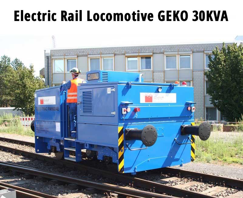 Electric rail locomotive
